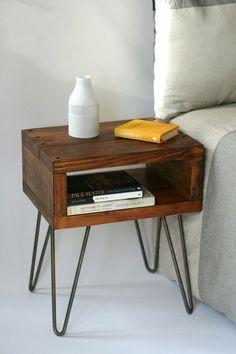Nachttisch | Haarnadelbeine | Industrie Design