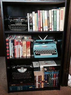 readbeforeyouwrite:  My Typewriter/Book shelf. My second...