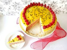 Tort Passionata, cu zmeura si fructul pasiunii Panna Cotta, Pudding, Sweets, Cooking, Mousse, Ethnic Recipes, Desserts, Food, Deserts