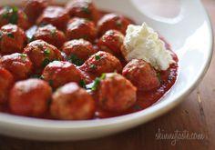 Crock pot Italian turkey meatballs