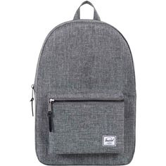 Herschel Supply Co. Settlement Backpack , Raven Crosshatch (105 CAD) ❤ liked on Polyvore featuring bags, backpacks, raven crosshatch, day pack backpack, pocket backpack, stripe bag, zipper bag and zip bags