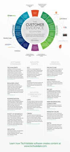 TechValidate's Infographic outlines the customer evidence industry, and positioning themselves as the leader.