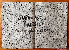 'Surround Yourself with Good People' by Lisa Congdon