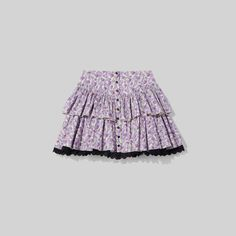 Cut in tiers, our prairie mini skirt features a broderie anglaise hem and snaps down the front. Shop The Marc Jacobs Mini Prairie Skirt. Skirts For Sale, Mini Skirts, Lilac, Lavender, Prairie Skirt, World Of Fashion, Marc Jacobs, Your Style, Ready To Wear