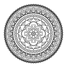 Printable Detailed Mandala Coloring Pages | FIVE Mandala Colouring Pages Printable Digital by KalyaniDesigns