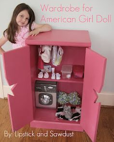 DIY Wardrobe for American Girl Doll