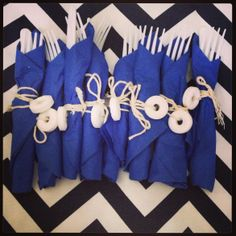Life saver utensils for nautical party