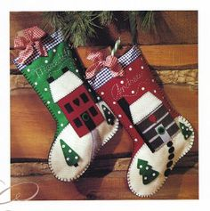Feltro no capricho: Botas natalinas....