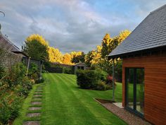Some unique evening sunshine shining down on the Craigatin garden Pitlochry last night!