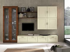 Contemporary Wall Unit Paris 610 by Artigian Mobili Italy - $4,135.00