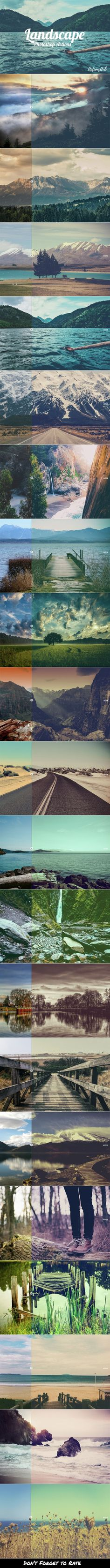 20 Landscape Photoshop Actions - Photo Effects Actions