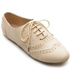 Amazon.com: Ollio Women's Shoe Classic Lace Up Dress Low Flat Heel Oxford: Shoes