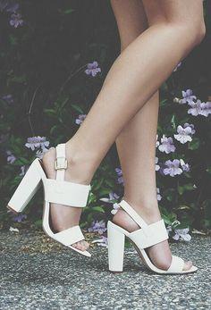Fay 1 White High Heel Sandals