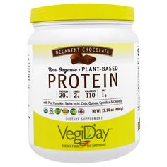 Natural Factors, Raw Organic, Plant-Based Protein, Decadent Chocolate, 17.14 oz (486 g)