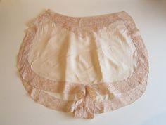 Vintage Underwear Ladies 1920's Silk and Lace Tap Pants With Pin Tucks.