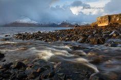 Elgol Burn. Brief Sunshine. Loch Scavaig.  Isle of Skye. Scotland.