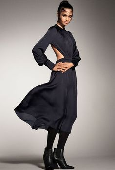 Look for silk dresses with cool cutouts.