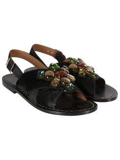 MARNI Marni Fussbett Embellished Flat Sandals. #marni #shoes #sandals