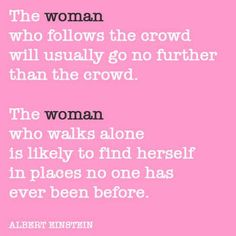 the woman who...