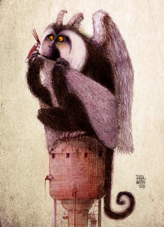 Anton, Owl, Crochet Hats, Concept, Bird, Illustration, Animals, Painting, Character