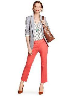 Women's Apparel: outfits we love   Banana Republic orange/grey color combo