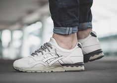 ASICS Drops a Clean Off-White Colorway of the GEL-Lyte V  Off-white suede  meets military green and grey. bfddaa2e9