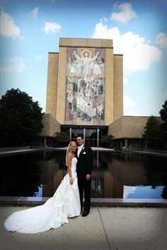 """In front of """"Touchdown Jesus"""" on the beautiful campus of the University of Notre Dame. - I will be married here, gotta find my football player first"""