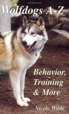Wolfdogs A-Z: Behavior, Training & More (Wolf Hybrids) by Nicole Wilde, http://www.amazon.com/dp/096677261X/ref=cm_sw_r_pi_dp_Skycsb00Z4WAM