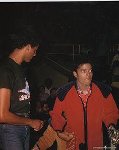 Michael - Backstage, Triumph Tour, 1981.
