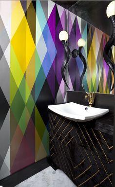 2015 Denver Designer Show House Color Powder Room Designed By Andrea Schumacher Interiors Photography