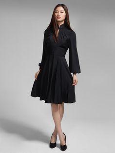 Silk long sleeves flare dress By Shanghai Tang Shanghai Tang 966e7aedac