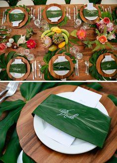 63 New Ideas Bridal Shower Decorations Centerpieces Table Settings Beach Wedding Reception, Hawaii Wedding, Wedding Table, Filipiniana Wedding Theme, Bridal Shower Decorations, Table Decorations, Centerpiece Ideas, Tropical Centerpieces, Filipino Wedding