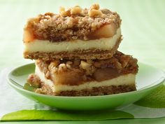 Apple Streusel Cheesecake Bars. -- Kristy's Review - I make these every Thanksgiving! They are so easy and delicious.