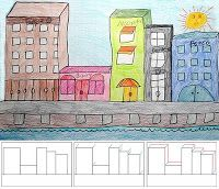 cc cycle 2, wk 5, perspective.  Art Projects for Kids: How to Draw City Buildings