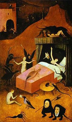 Hieronymus Bosch, Death of a Whore, c. 1490 - 1516