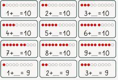 Lernstübchen: Zusatzaufgaben ZR 10 Source by Maths Puzzles, Preschool Worksheets, Math Activities, 1st Grade Math, Kindergarten Math, Teaching Math, Math Skills, Math Lessons, Montessori Math
