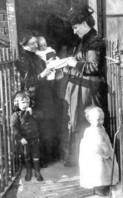 Titanic: In the photo Rosina Hurst reads of her husband's survival but also of the death of her father. The house next door would no longer contain the grandfather who doted on baby George seen in Rosina's arms.