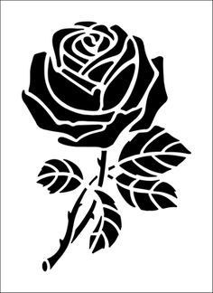 Rose Solo stencil from The Stencil Library BUDGET STENCILS range. Buy stencils online. Stencil code CS52.