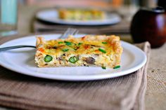 A super easy quiche loaded with my favorite veggies and cheese.