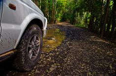 4WD Tracks Brisbane - It can become slippery after rain: http://www.traveltherenext.com/adventure/item/685-4wd-tracks-brisbane-nsw-five-great-drives  #seeaustralia #brisbane #4wd #roadtrip #adventure #travel #traveltherenext