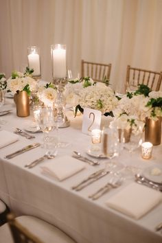 Gold and Cream Reception Decor | photography by http://twobirdsphoto.com