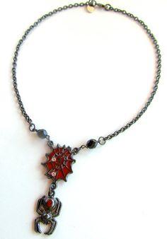 black widow necklace by EldoradoClubJewelry on Etsy, $24.00
