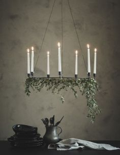 IKEA - VÄRMER, Chandelier for 6 candles, black, The style is both simple and discreet, and it suits most settings. 6 candles are needed for the chandelier – may be completed with JUBLA candles or LJUSANDE LED candles. Ikea Christmas, Scandinavian Christmas, Christmas Holidays, Christmas Decorations, Holiday Decor, Xmas, Christmas Ideas, Chandelier Bougie, Candle Chandelier
