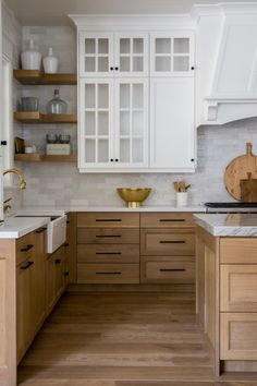 10 trend inspirations for the kitchen design - Home Fashion Trend Kitchen Redo, Home Decor Kitchen, Kitchen Interior, New Kitchen, Home Kitchens, Maple Kitchen Cabinets, Kitchen Ideas Light Wood Cabinets, Cottage Kitchen Backsplash, Light Oak Cabinets