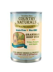 Country Naturals Dog Food - Ultra Premium Plus Beef Stew - 12/cs