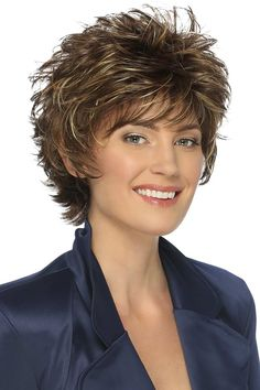 The Heidi Wig by Estetica Designs is a short layered cut with slight flip in the back that you can mess it up for a spiky look full of attitude, or smooth it out for a more casual look. Short Hair Dos, Short Hair With Layers, Short Hair Styles, Wedge Haircut, Blonde Pixie Cuts, Low Maintenance Hair, Great Haircuts, Edgy Hair, Trending Hairstyles