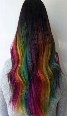 Creative Hair Color, Cool Hair Color, Under Colour Hair, Pelo Multicolor, Coloured Hair, Dye My Hair, Aesthetic Hair, Crazy Hair, Ombre Hair