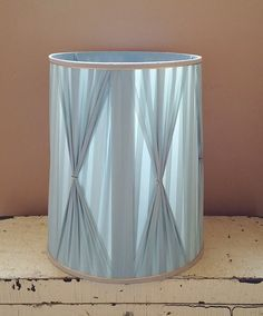 Hey, I found this really awesome Etsy listing at https://www.etsy.com/ca/listing/463917488/mid-century-pleated-pastel-blue-drum