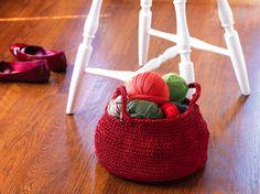 Crochet Basket with Handles (Free Crochet Pattern)