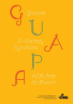Guapa, a display typeface with lots of charm